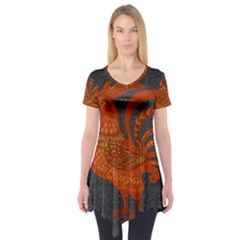 Chicken year Short Sleeve Tunic