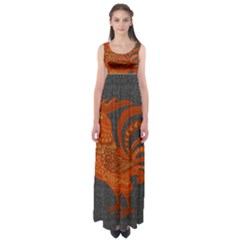 Chicken year Empire Waist Maxi Dress
