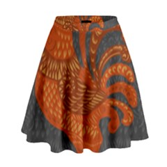Chicken year High Waist Skirt