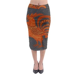 Chicken year Midi Pencil Skirt