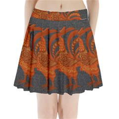 Chicken year Pleated Mini Skirt