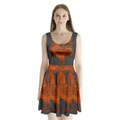Chicken year Split Back Mini Dress