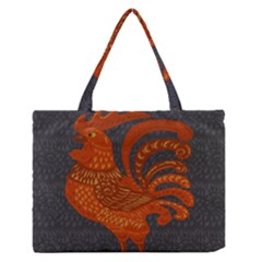 Chicken year Medium Zipper Tote Bag