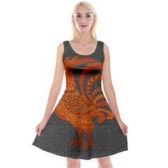 Chicken year Reversible Velvet Sleeveless Dress