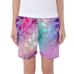 Colorful leaves Women s Basketball Shorts