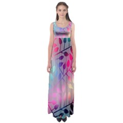Colorful leaves Empire Waist Maxi Dress