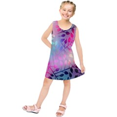 Colorful leaves Kids  Tunic Dress