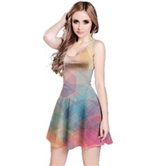 Colorful light Reversible Sleeveless Dress