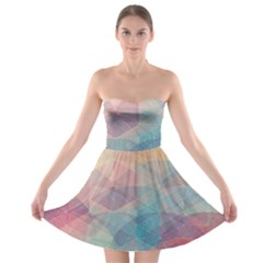 Colorful light Strapless Bra Top Dress