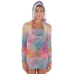 Colorful light Women s Long Sleeve Hooded T-shirt