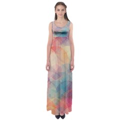 Colorful light Empire Waist Maxi Dress