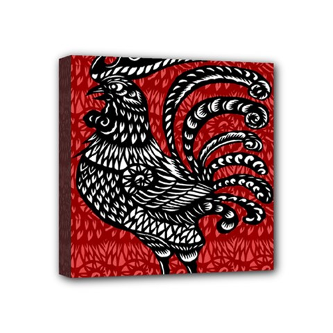 Year of the Rooster Mini Canvas 4  x 4