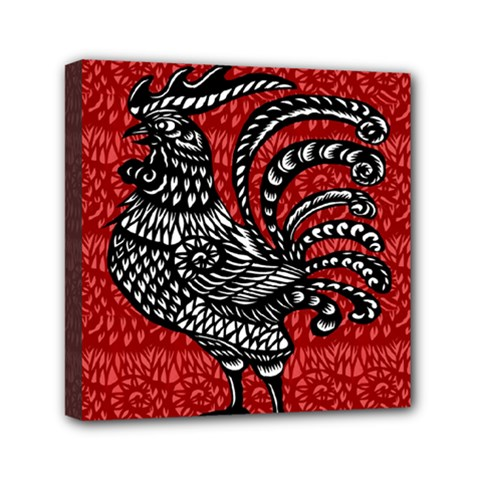 Year of the Rooster Mini Canvas 6  x 6