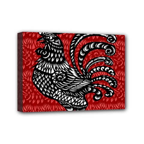 Year of the Rooster Mini Canvas 7  x 5