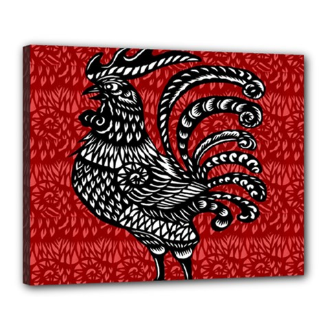 Year of the Rooster Canvas 20  x 16