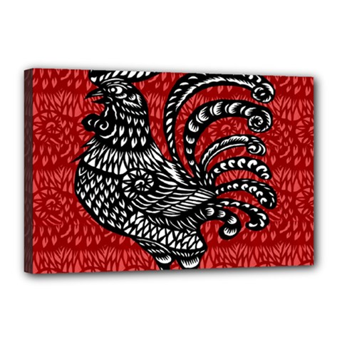 Year of the Rooster Canvas 18  x 12