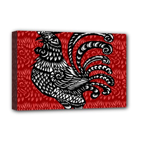 Year of the Rooster Deluxe Canvas 18  x 12