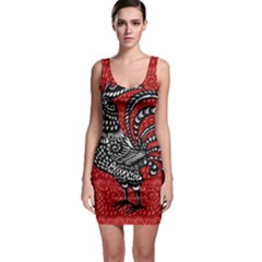 Year of the Rooster Sleeveless Bodycon Dress