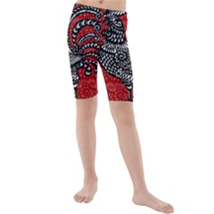 Year of the Rooster Kids  Mid Length Swim Shorts