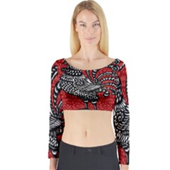Year of the Rooster Long Sleeve Crop Top