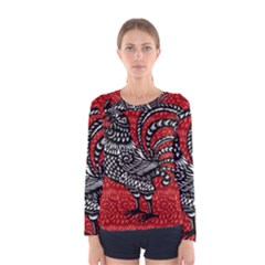 Year of the Rooster Women s Long Sleeve Tee