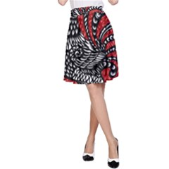 Year of the Rooster A-Line Skirt
