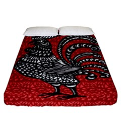 Year of the Rooster Fitted Sheet (California King Size)