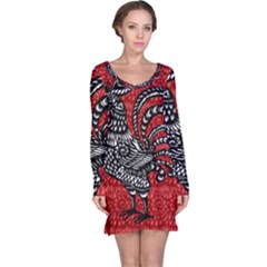 Year of the Rooster Long Sleeve Nightdress