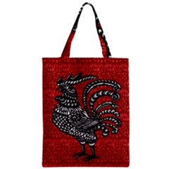 Year of the Rooster Zipper Classic Tote Bag