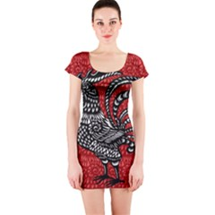 Year of the Rooster Short Sleeve Bodycon Dress