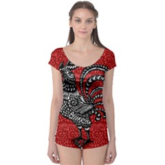 Year of the Rooster Boyleg Leotard