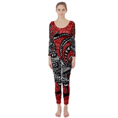 Year of the Rooster Long Sleeve Catsuit