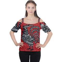 Year of the Rooster Women s Cutout Shoulder Tee