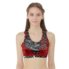 Year of the Rooster Sports Bra with Border