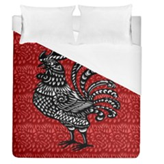 Year of the Rooster Duvet Cover (Queen Size)