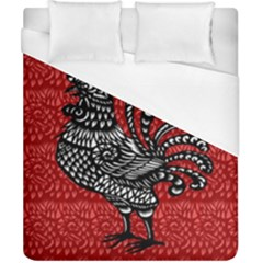 Year of the Rooster Duvet Cover (California King Size)
