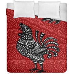 Year of the Rooster Duvet Cover Double Side (California King Size)