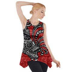 Year of the Rooster Side Drop Tank Tunic