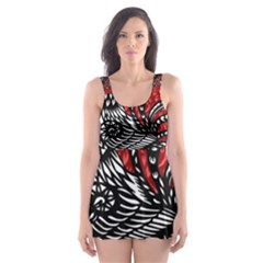 Year of the Rooster Skater Dress Swimsuit