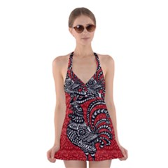 Year of the Rooster Halter Swimsuit Dress