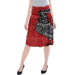 Year of the Rooster Midi Beach Skirt