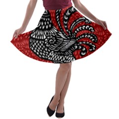 Year of the Rooster A-line Skater Skirt