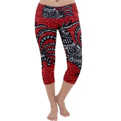 Year of the Rooster Capri Yoga Leggings