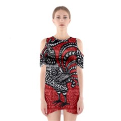 Year of the Rooster Shoulder Cutout One Piece