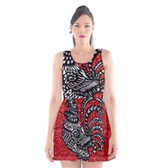 Year of the Rooster Scoop Neck Skater Dress