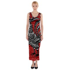 Year of the Rooster Fitted Maxi Dress