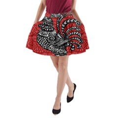 Year of the Rooster A-Line Pocket Skirt