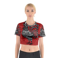 Year of the Rooster Cotton Crop Top