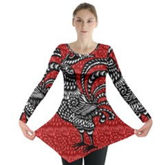Year of the Rooster Long Sleeve Tunic