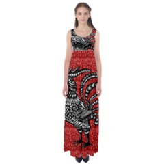 Year of the Rooster Empire Waist Maxi Dress